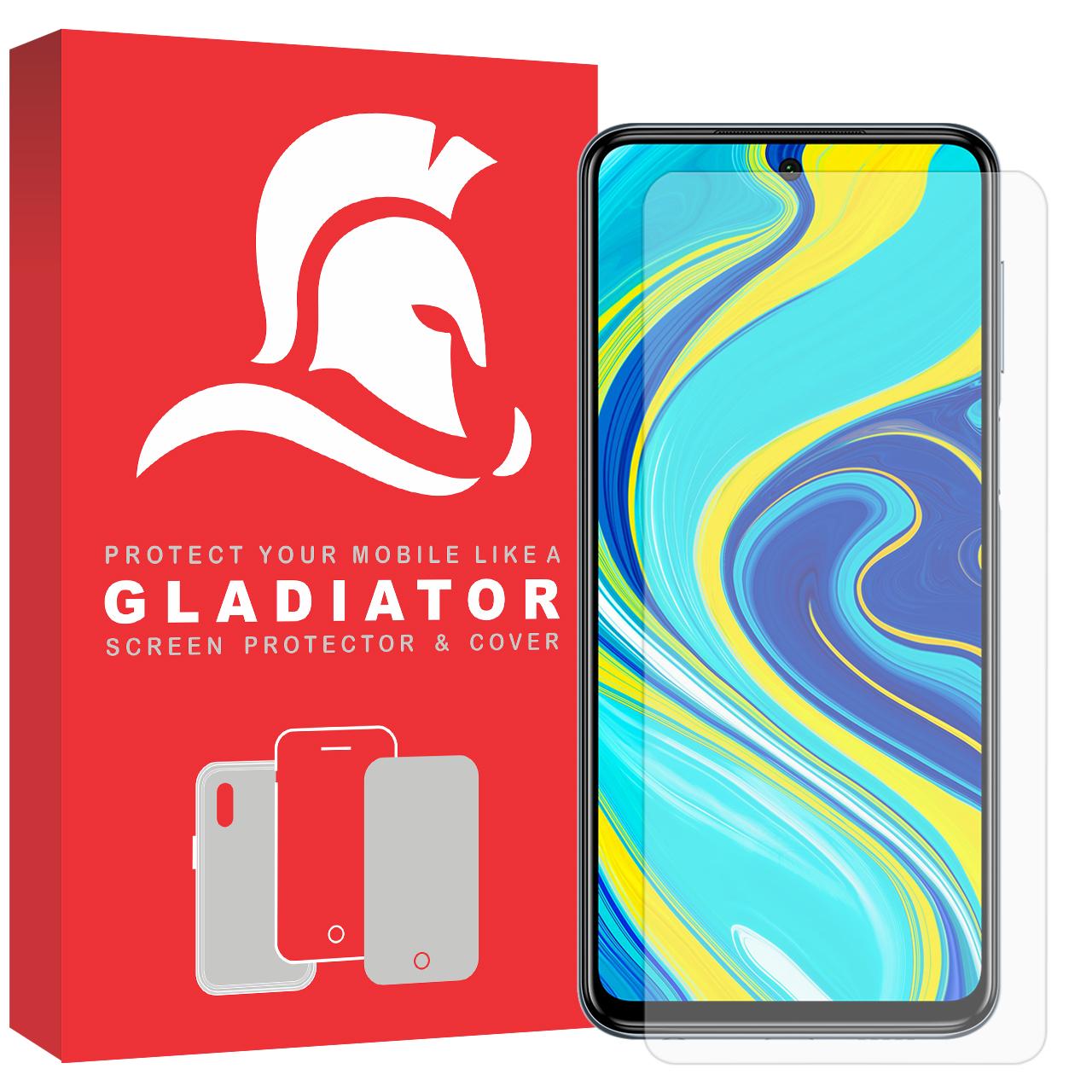 محافظ صفحه نمایش گلادیاتور مدل GLX1000 مناسب برای گوشی موبایل شیائومی Redmi Note 9s