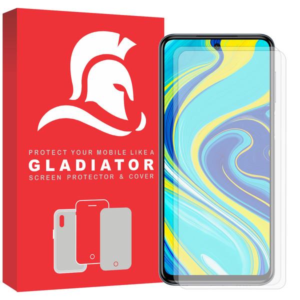 محافظ صفحه نمایش گلادیاتور مدل GLX2000 مناسب برای گوشی موبایل شیائومی Redmi Note 9s بسته دو عددی