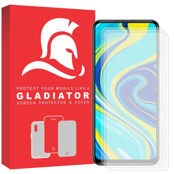 محافظ صفحه نمایش گلادیاتور مدل GLX3000 مناسب برای گوشی موبایل شیائومی Redmi Note 9s بسته سه عددی