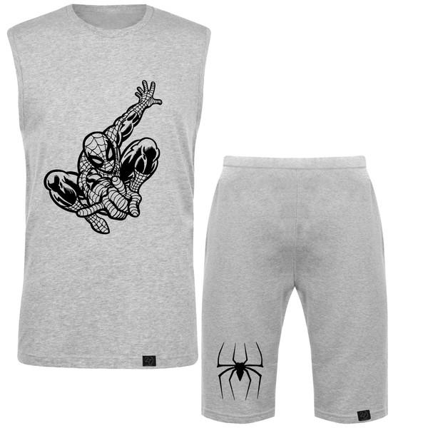 ست تاپ و شلوارک مردانه 27 طرح مرد عنکبوتی کد J10