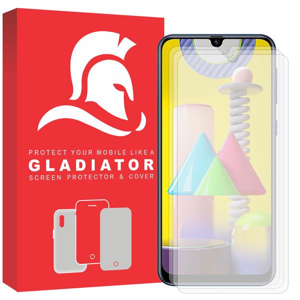 محافظ صفحه نمایش گلادیاتور مدل GLS3000 مناسب برای گوشی موبایل سامسونگ Galaxy M31 بسته سه عددی
