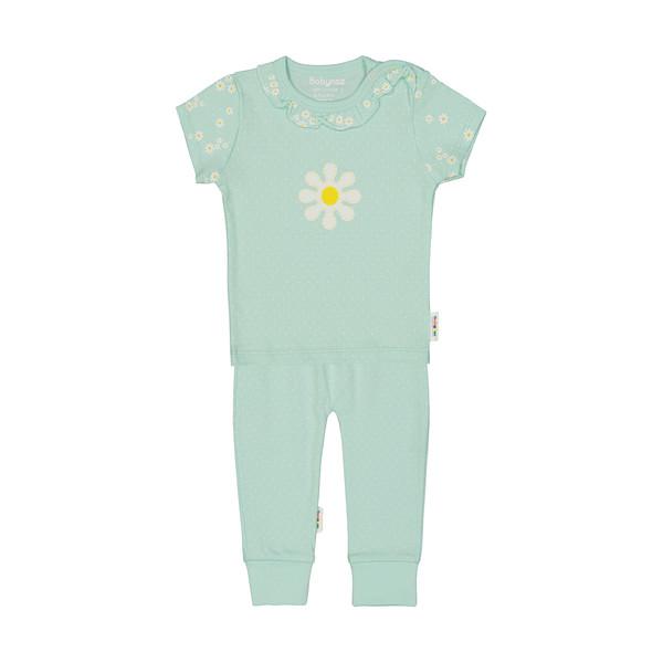 ست تی شرت و شلوار نوزادی دخترانه بی بی ناز مدل 1501506-41