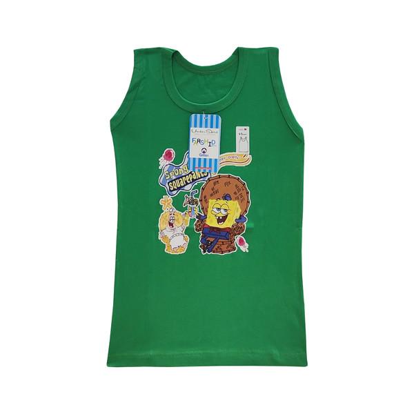 زیرپوش پسرانه فرشید طرح باب اسفنجی کد 30509 رنگ سبز