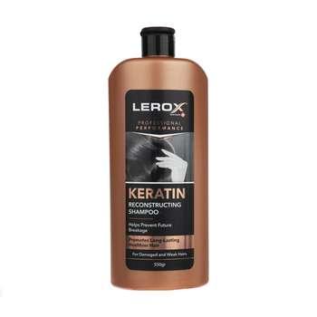شامپو مو لروکس مدل Keratin وزن ۵۵۰ گرم