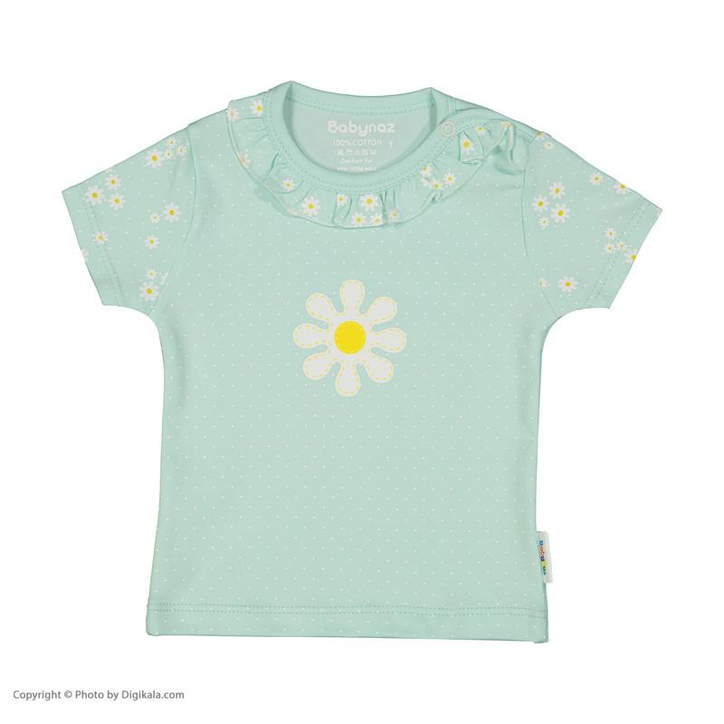 ست تی شرت و شلوارک نوزادی دخترانه بی بی ناز مدل 1501508-41