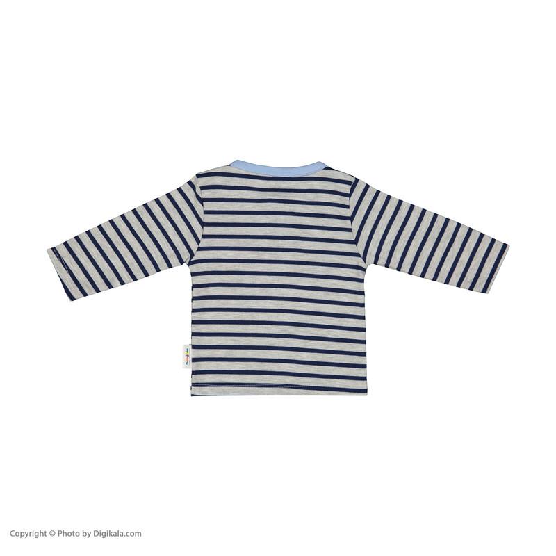 تی شرت نوزادی پسرانه بی بی ناز مدل 1501497-5990
