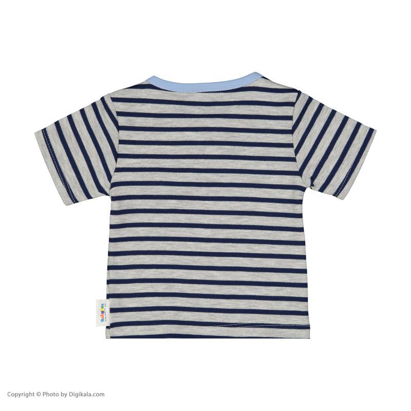 تی شرت نوزادی پسرانه بی بی ناز مدل 1501498-5990