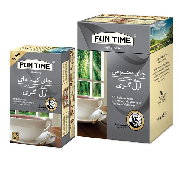 چای ارل گری فان تایم - 450 گرم به همراه چای کیسه ای بسته 25 عددی