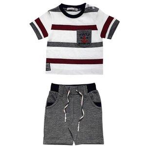 ست تی شرت و شلوارک پسرانه مدل 3024