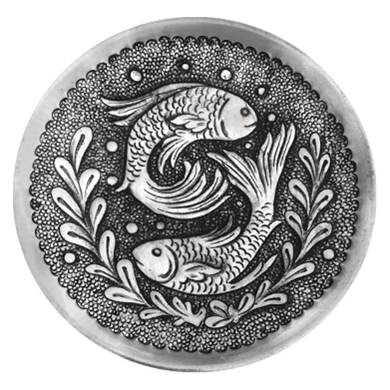 بشقاب قلمزنی طرح ماهی کد 80