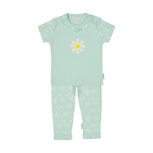ست تی شرت و شلوار نوزادی دخترانه بی بی ناز مدل 1501505-41