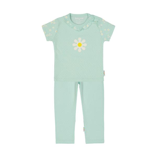 ست تی شرت و شلوار نوزادی دخترانه بی بی ناز مدل 1501507-41