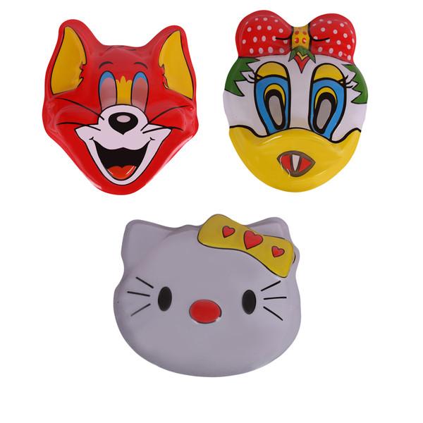 ماسک صورت طرح عروسکی مدل 001 بسته 3 عددی