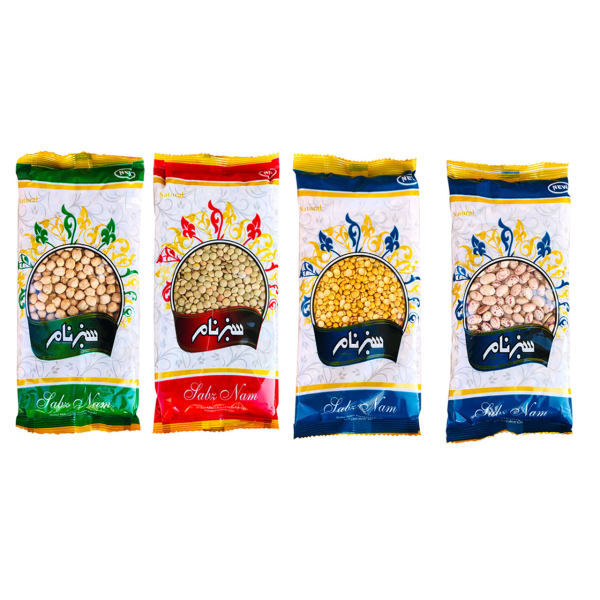 حبوبات سبزنام 450 گرم-مجموعه 4 عددی