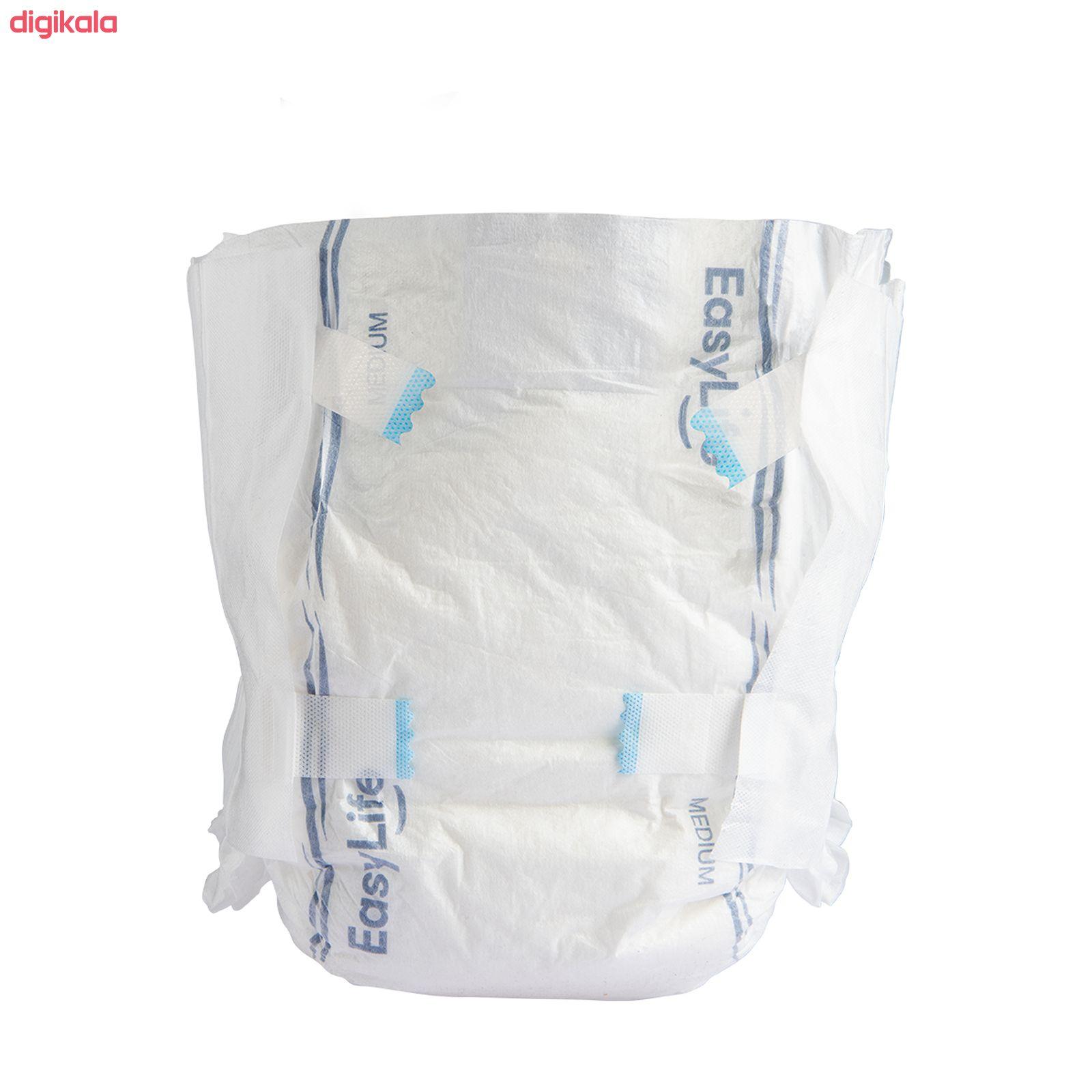 پوشینه بزرگسال چسبی ایزی لایف سایز متوسط بسته 16 عددی main 1 2