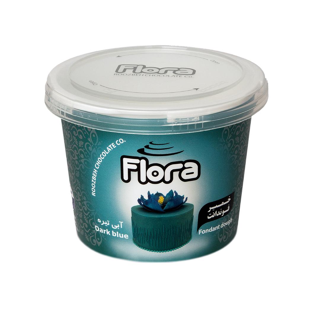 خرید                      خمیر فوندانت آبی تیره فلورا - 300 گرم