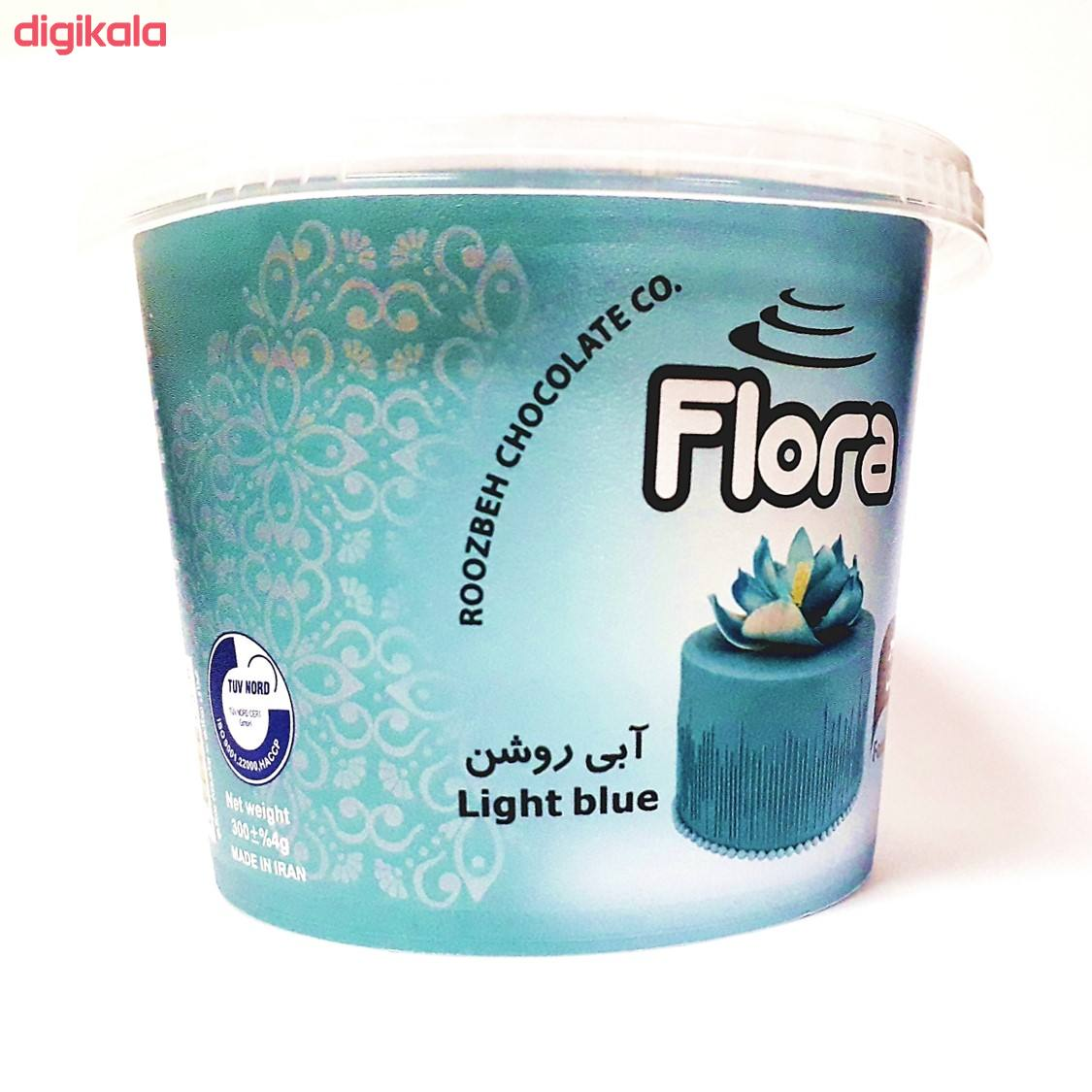خمیر فوندانت آبی روشن فلورا - 300 گرم main 1 1