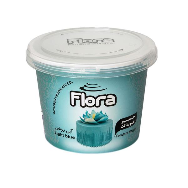 خمیر فوندانت آبی روشن فلورا - 300 گرم