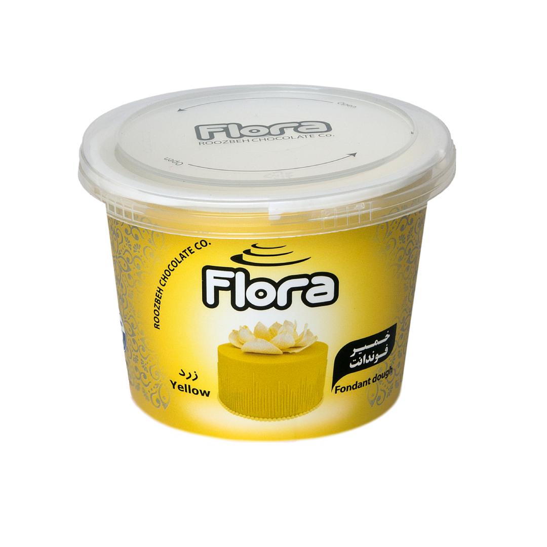 خرید                      خمیر فوندانت زرد فلورا - 300 گرم