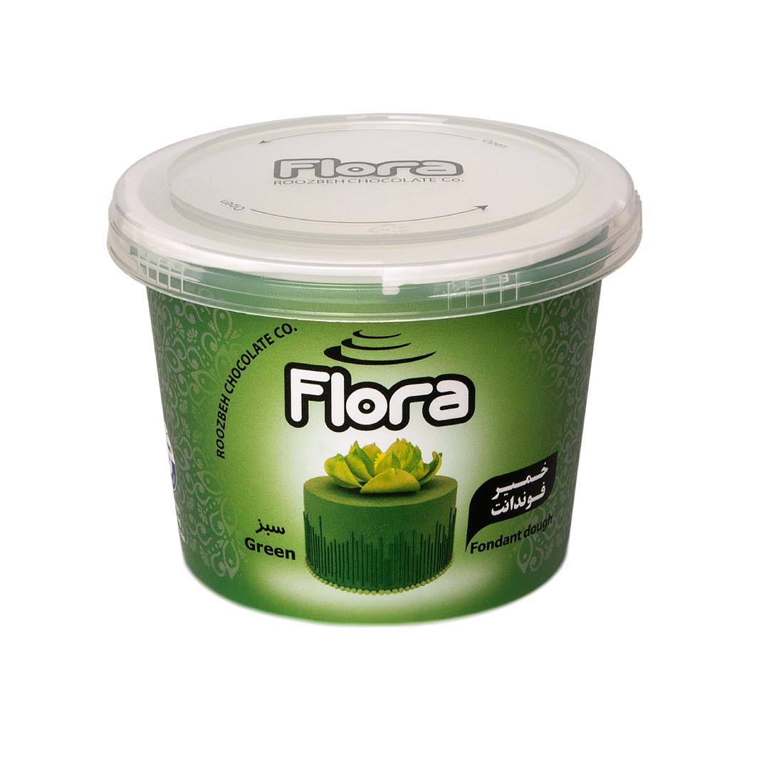 خرید                      خمیر فوندانت سبز تیره فلورا - 300 گرم