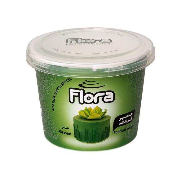 خمیر فوندانت سبز تیره فلورا - 300 گرم