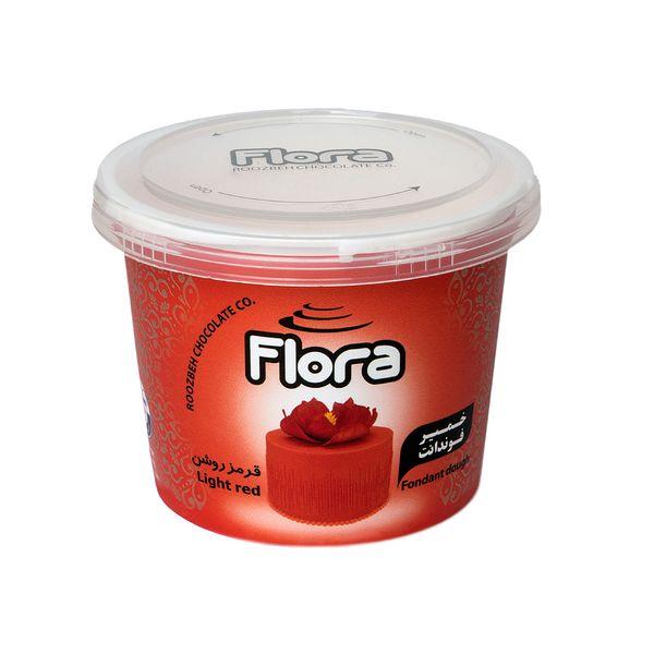 خمیر فوندانت قرمز روشن فلورا - 300 گرم