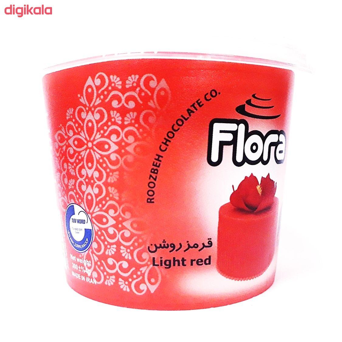 خمیر فوندانت قرمز روشن فلورا - 300 گرم main 1 1