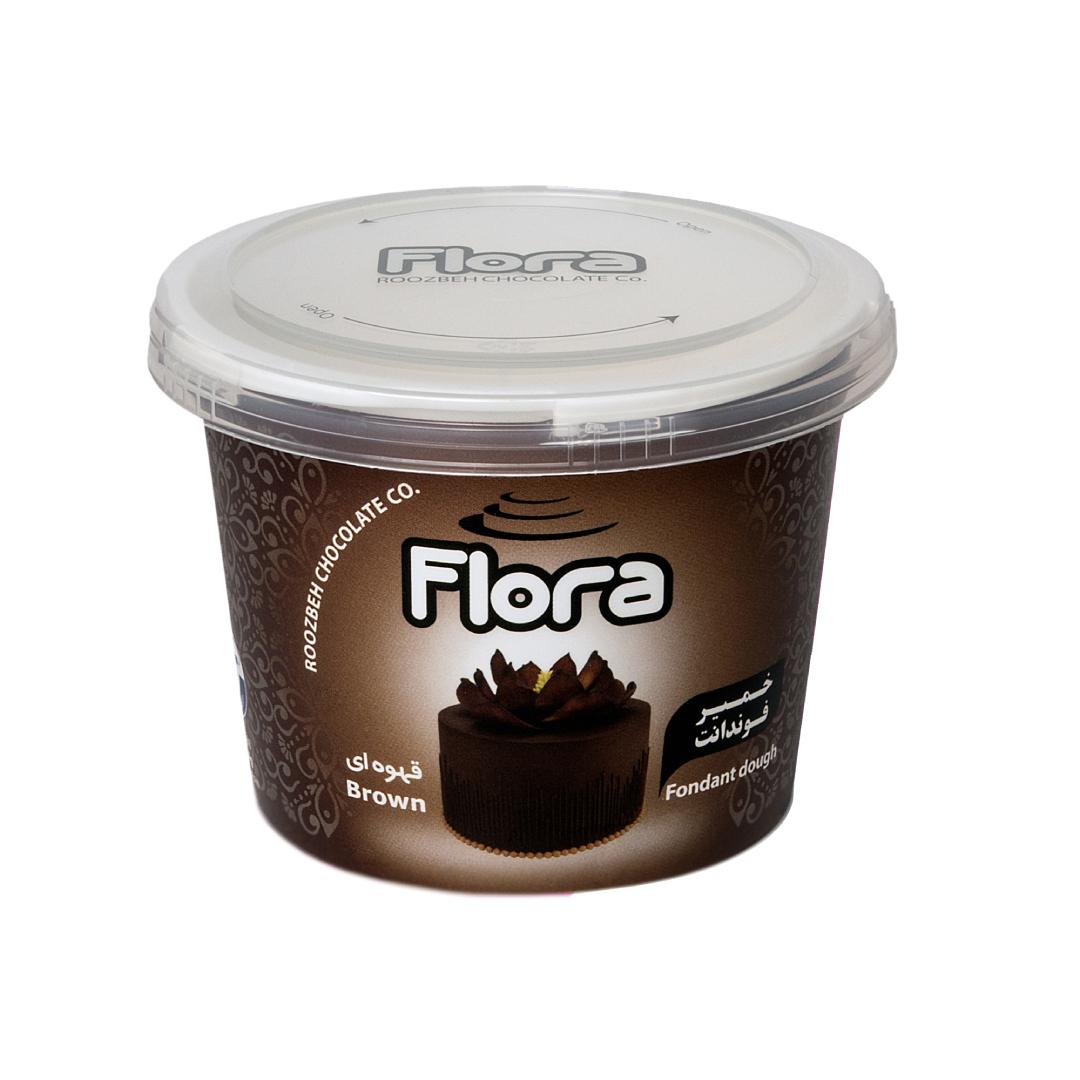 خرید                      خمیر فوندانت قهوه ای فلورا - 300 گرم