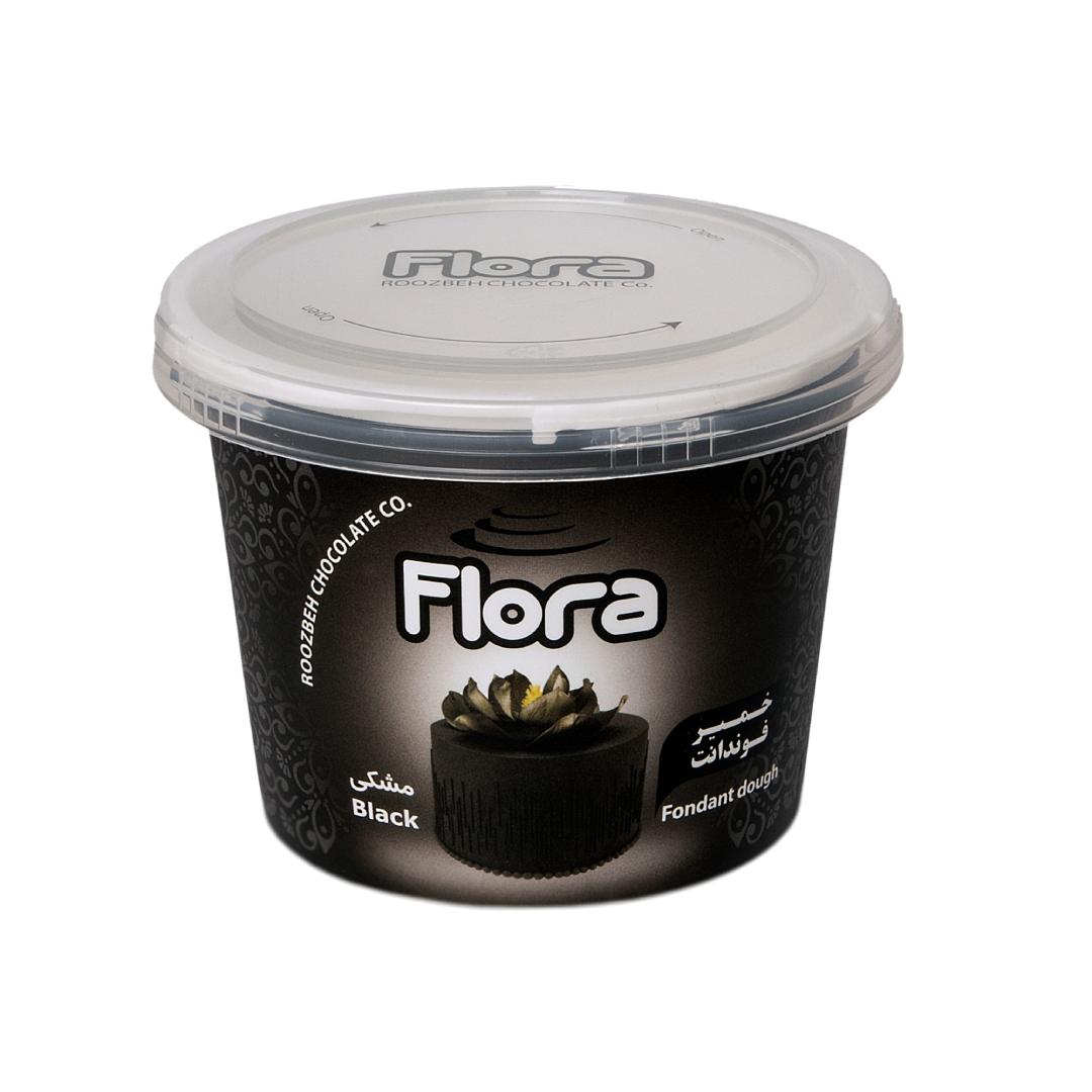 خرید                      خمیر فوندانت مشکی فلورا - 300 گرم