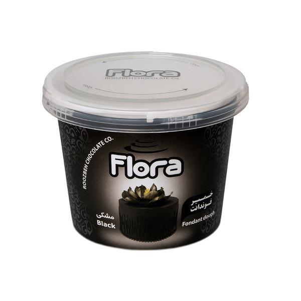 خمیر فوندانت مشکی فلورا - 300 گرم
