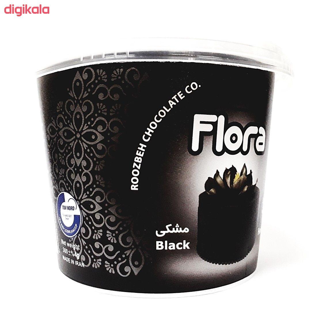خمیر فوندانت مشکی فلورا - 300 گرم main 1 1