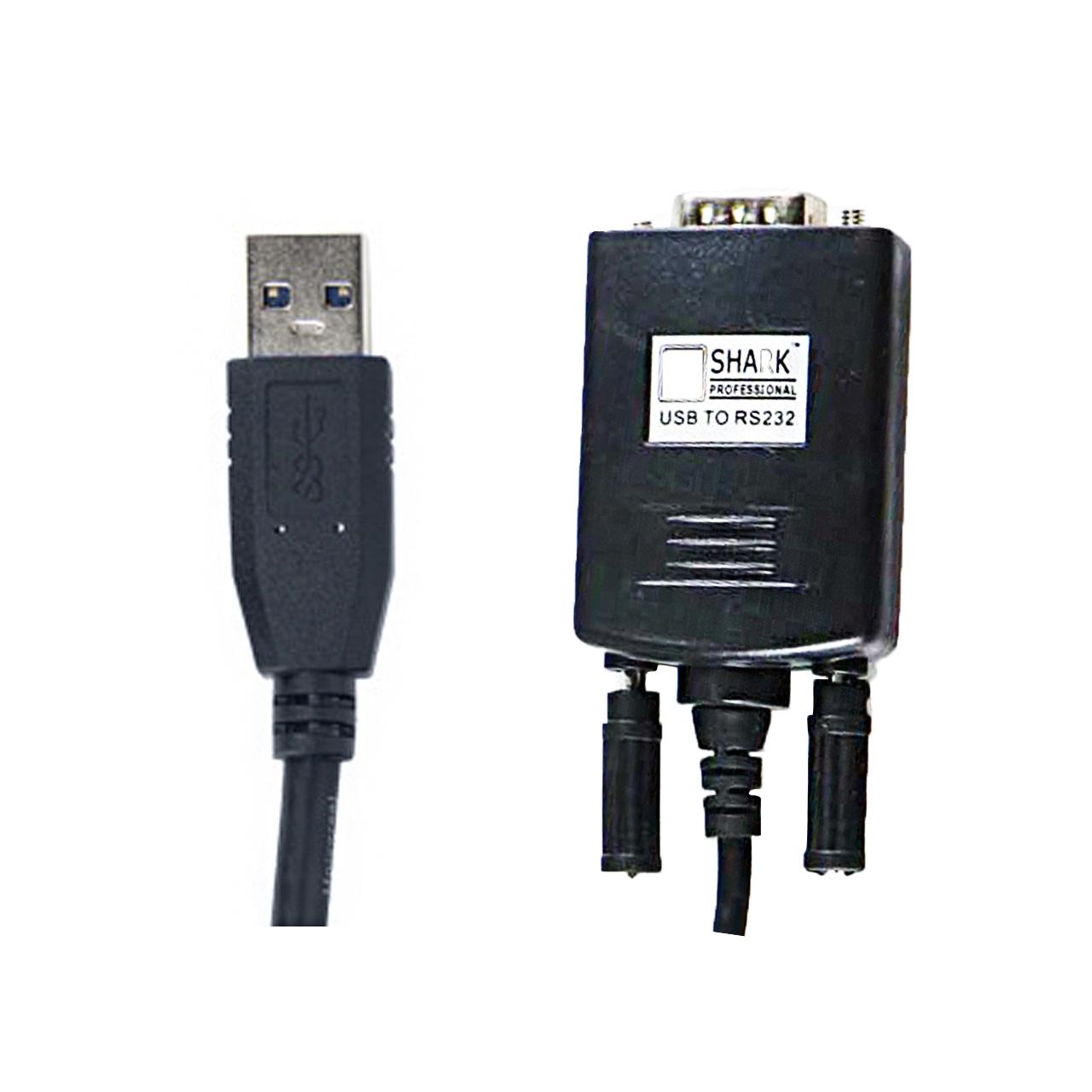 کابل تبدیل USB به سریال RS232 شارک مدل SH-201 طول 1 متر