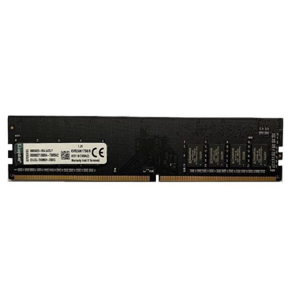 رم دسکتاپ DDR4 تک کاناله 2400 مگاهرتز cl17 کینگستون مدل kvr ظرفیت 8 گیگابایت