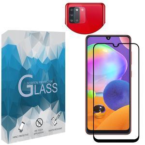 محافظ صفحه نمايش مدل FLGSP مناسب برای گوشی موبایل سامسونگ Galaxy A31 به همراه محافظ لنز دوربین