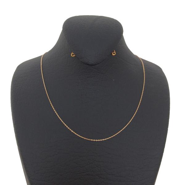 زنجیر طلا 18 عیار زنانه الماسین آذر کد Z01