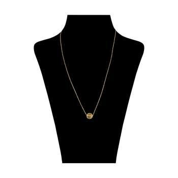 گردنبند طلا 18 عیار زنانه باراد زر طرح گوی کد 258