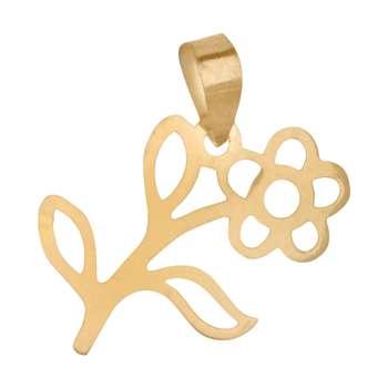 آویز گردنبند طلا 18 عیار زنانه باراد زر طرح گل