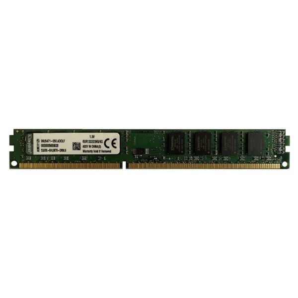 رم دسکتاپ DDR3 تک کاناله 1333 مگاهرتز cl9 کینگستون مدلkvr ظرفیت 4گیگابایت