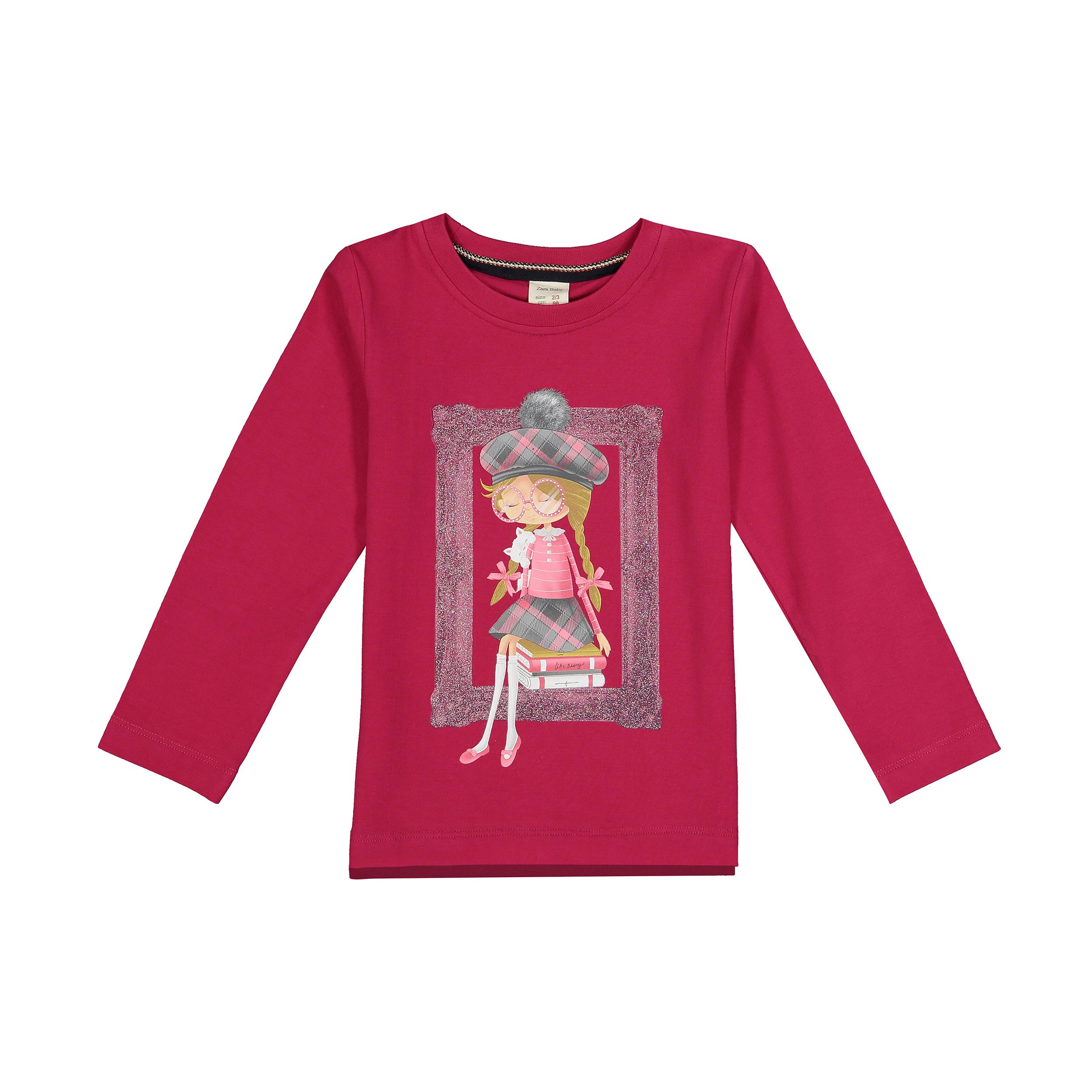 تی شرت نوزادی دخترانه کد 1362-2