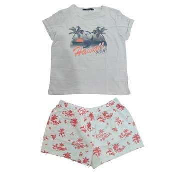 ست تی شرت و شلوارک دخترانه کیابی مدل mchbp003