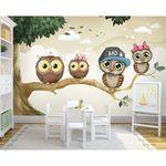 پوستر دیواری اتاق کودک طرح جغد کوچولوها کد pk114