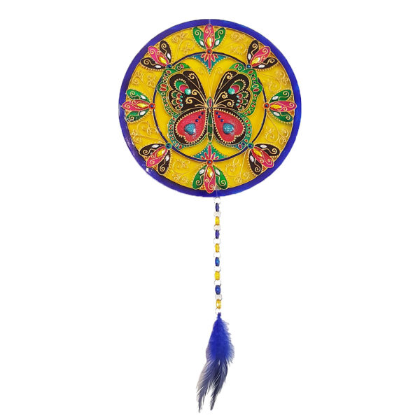 آویز تزیینی طرح ماندالا مدل پروانه