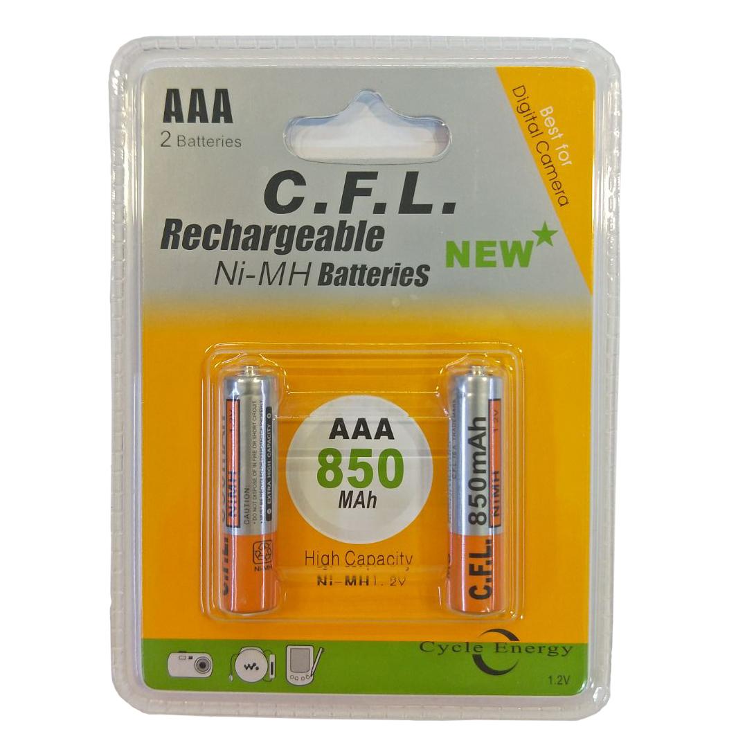 بررسی و {خرید با تخفیف}                                     باتری نیم قلمی قابل شارژ سی اف ال مدل CF-056 بسته دو عددی                             اصل