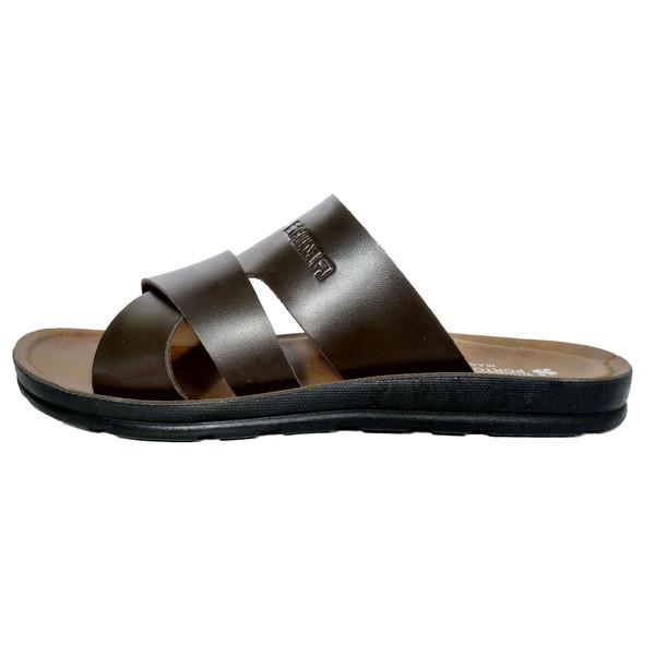 دمپایی مردانه کفش شیما مدل پرتو کد 106  رنگ قهوه ای
