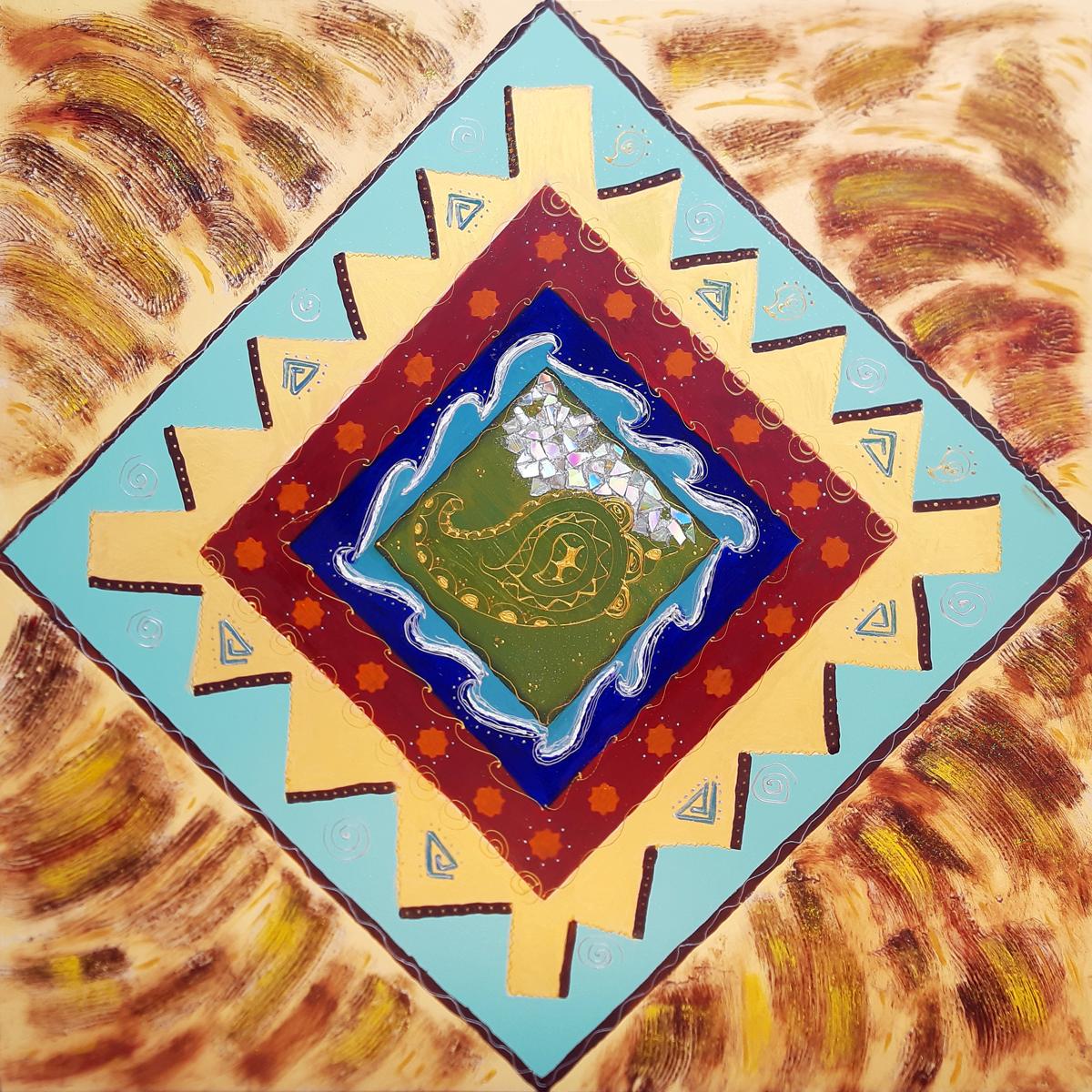 خرید                      تابلو نقاشی رنگ روغن مدل پارچه کد 09031