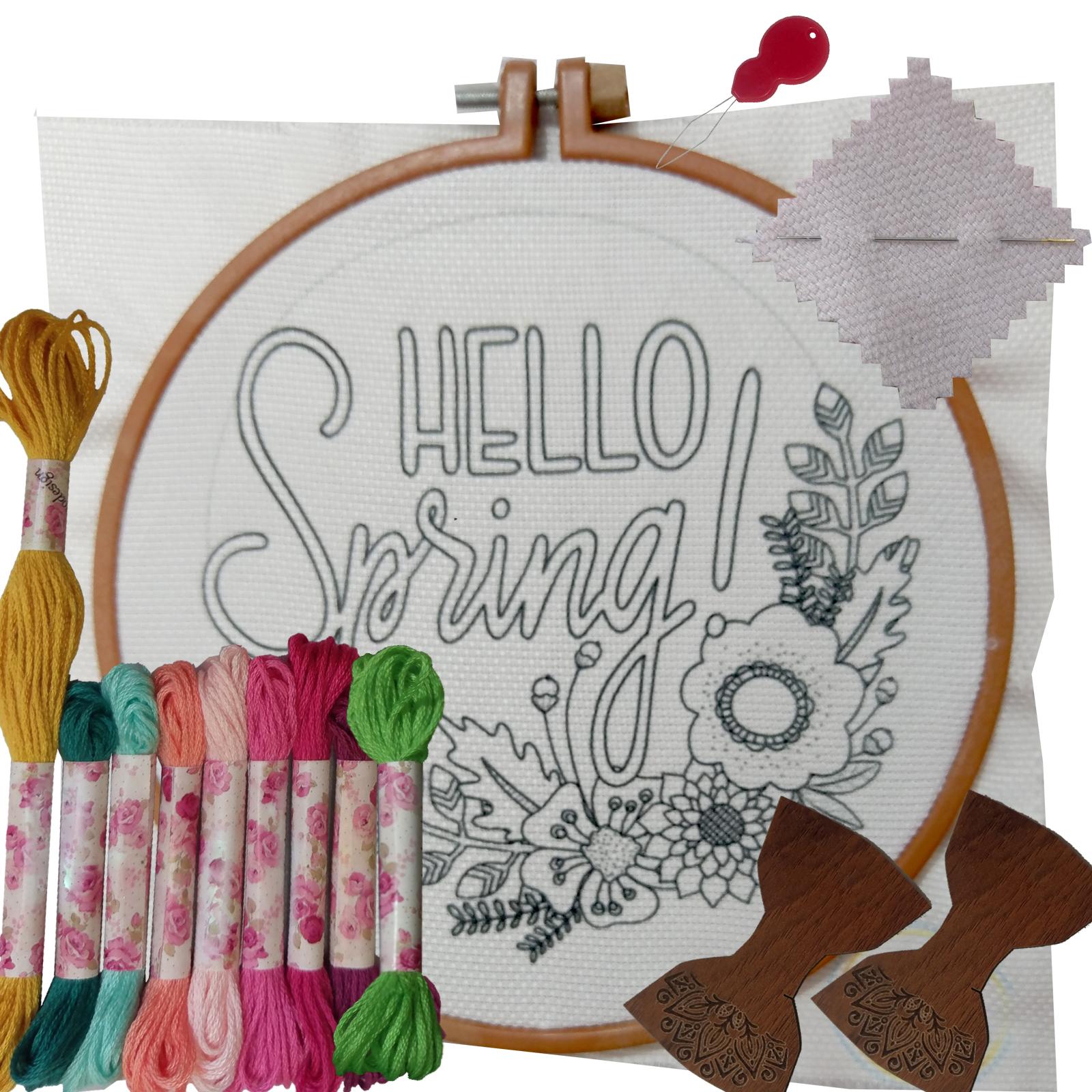 خرید                      بسته گلدوزی طرح Hello Spring مجموعه 15 عددی