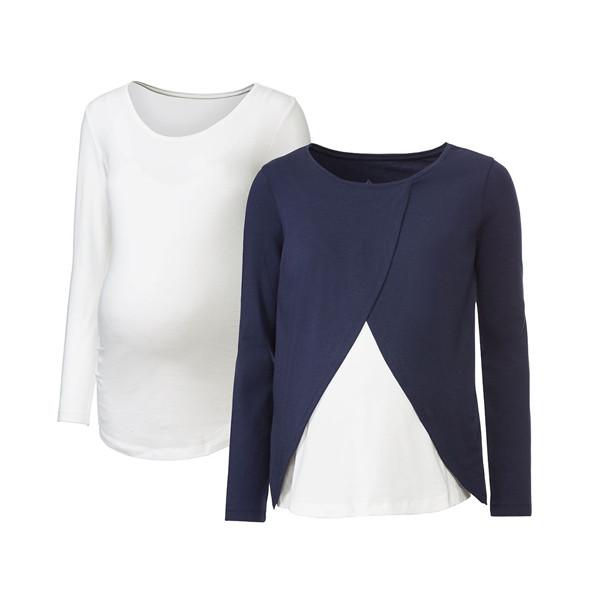 تی شرت بارداری زنانه اسمارا کد mesb040 مجموعه 2 عددی