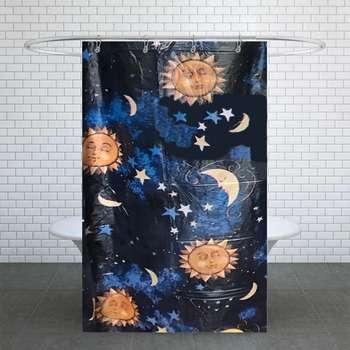پرده حمام مدل آفتاب مهتاب سایز 180× 240 سانتی متر