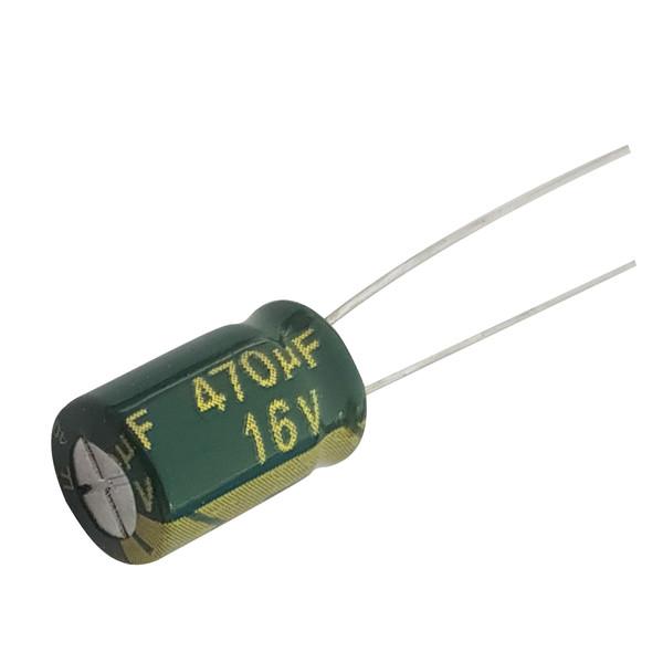 خازن الکترولیت 470 میکرو فاراد کد 100 بسته 10 عددی