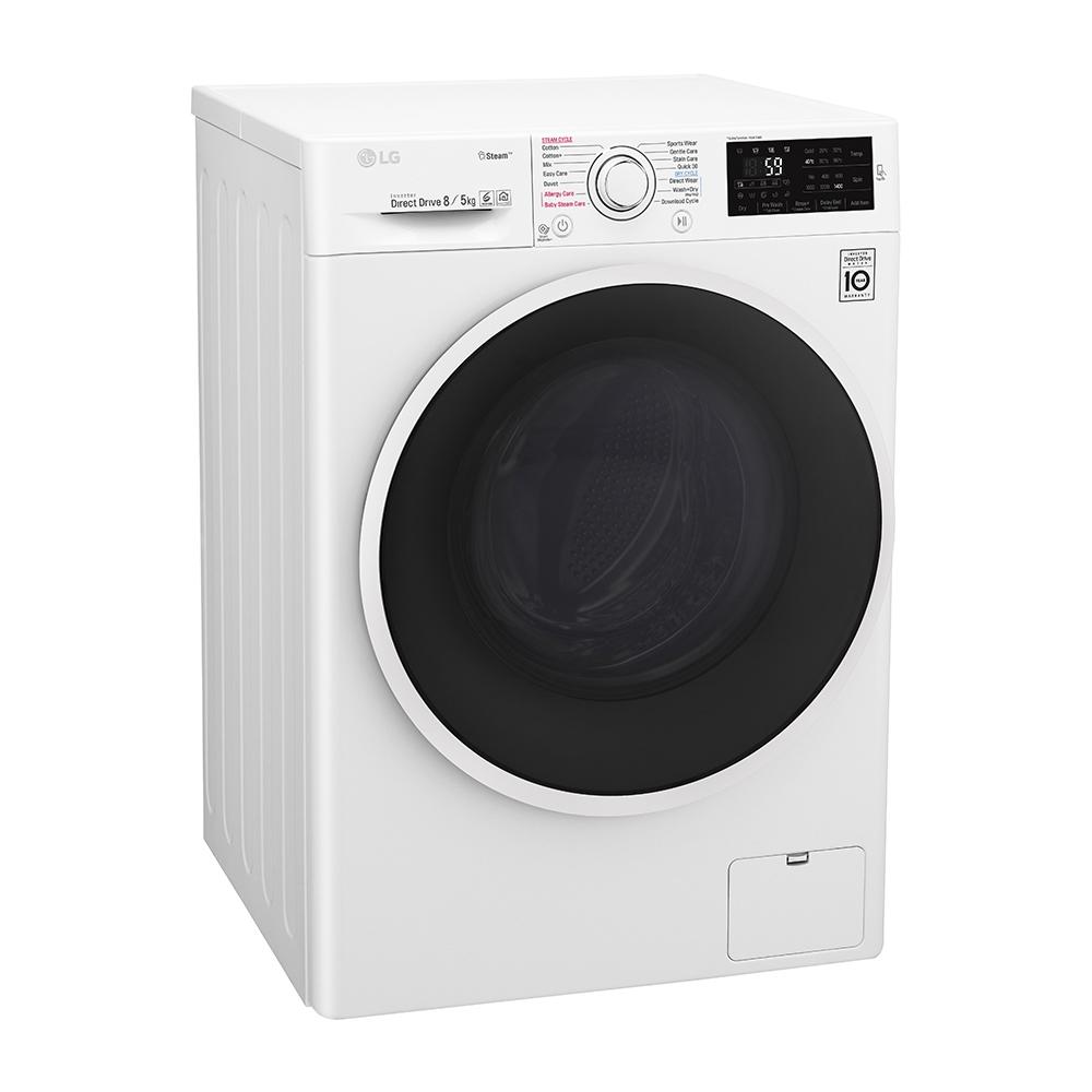 ماشین لباسشویی ال جی مدل WM-865CW ظرفیت 8 کیلوگرم